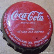 Collectionnisme de Coca-Cola et Pepsi: CHAPA CORONA COCA-COLA DIRECCIÓN BARCELONA FABRICANTE -NEW BOX- KRONKORKEN TAPPI CROWN CAP. Lote 189715022
