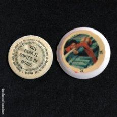 Coleccionismo de Coca-Cola y Pepsi: TAPONES BOTELLA COCA COLA SUPERMAN II DC COMICS INC. Nº 24 VALE SORTEO DE MOTOS. Lote 190140287