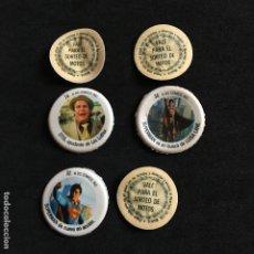 Coleccionismo de Coca-Cola y Pepsi: LOTE 6 TAPONES BOTELLA COCA COLA SUPERMAN II DC COMICS INC. Nº 14-32-34 VALE SORTEO MOTOS OTIS-LUISA. Lote 190141423