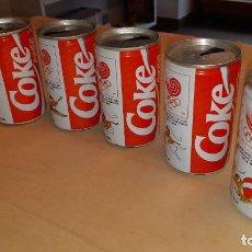 Coleccionismo de Coca-Cola y Pepsi: LOTE DE 6 LATAS DE COCA-COLA - COLECCIÓN COMPLETA DE LOS JJ.OO. DE SEÚL 1988 - MUY RARAS. Lote 190533886