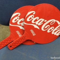Coleccionismo de Coca-Cola y Pepsi: RAQUETA PLASTICO DURO COCA COLA (J). Lote 190628192