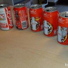 Coleccionismo de Coca-Cola y Pepsi: LOTE DE 7 LATAS DE COCA-COLA : 1 MUNDIAL MÉXICO'86, 1 MUNDIAL ITALIA'90, 5 EUROCOPAS 2000 Y 2012. Lote 190705948