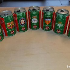 Coleccionismo de Coca-Cola y Pepsi: LOTE DE 9 LATAS DE EQUIPOS DE LA LIGA DE FÚTBOL DE 1996-97 DE 1ª DIVISIÓN-TODAS DIFERENTES. Lote 190709910