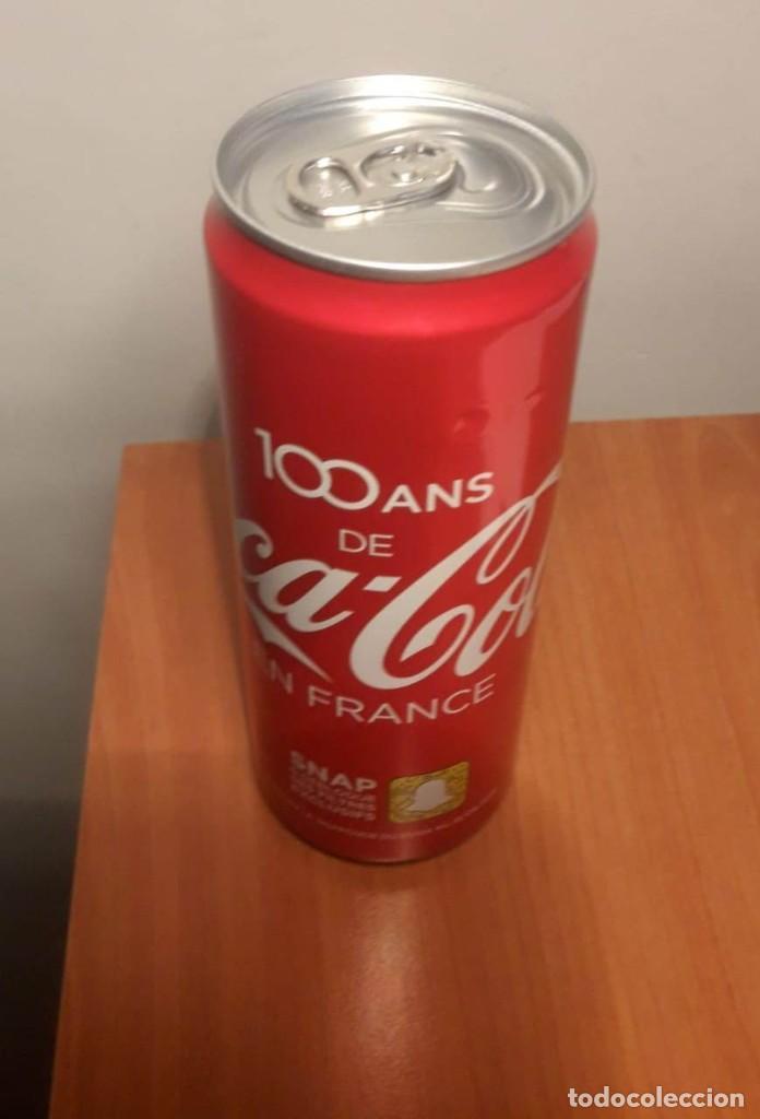 Coleccionismo de Coca-Cola y Pepsi: Lata llena 100 años de Coca Cola en Francia - Foto 2 - 190831423