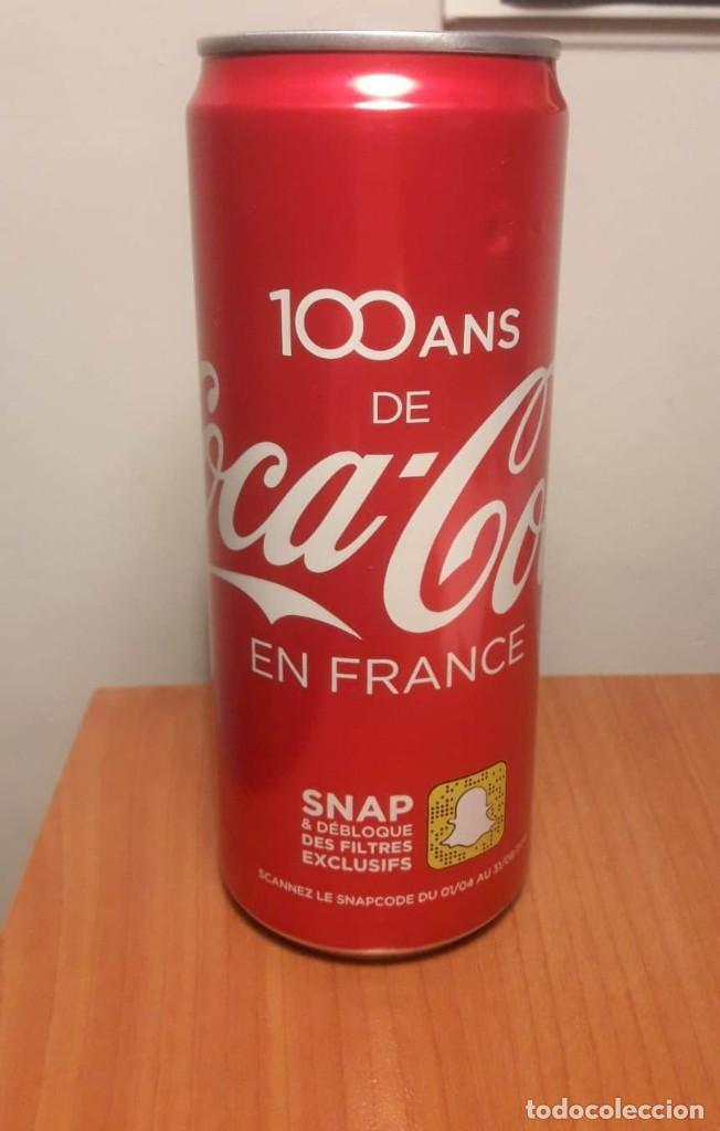 LATA LLENA 100 AÑOS DE COCA COLA EN FRANCIA (Coleccionismo - Botellas y Bebidas - Coca-Cola y Pepsi)