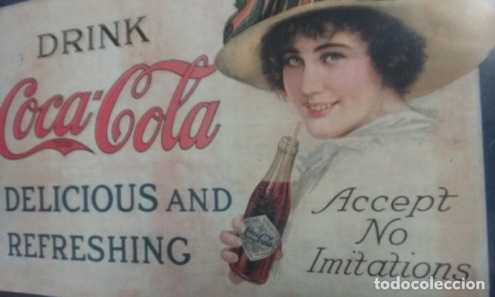 Coleccionismo de Coca-Cola y Pepsi: Cartel coca cola - Foto 2 - 191633927