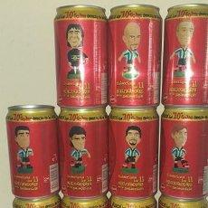 Coleccionismo de Coca-Cola y Pepsi: SET X 11 LATAS COCA COLA SELECCION ARGENTINA MUNDIAL FRANCIA 1998 VACIAS SET COMPLETO. Lote 126714751