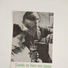 Coleccionismo de Coca-Cola y Pepsi: VALE POR UNA BOTELLA COCACOLA REFRESCA MEJOR ANTIGUO. Lote 192017403