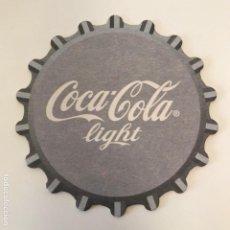 Coleccionismo de Coca-Cola y Pepsi: POSAVASOS COCA-COLA LIGHT 9CMS COCACOLA. Lote 192356943