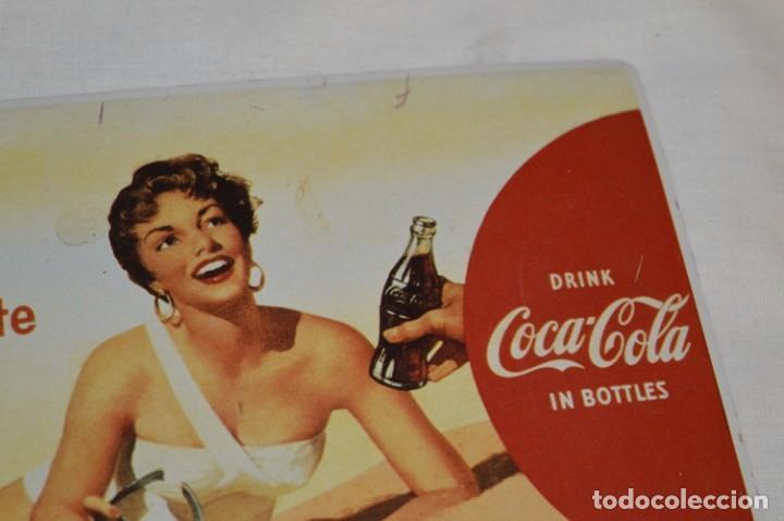 Coleccionismo de Coca-Cola y Pepsi: Chapa / placa - Publicidad de COCA-COLA / COCA COLA - METAL / hojalata litografiada - ¡Mira fotos! - Foto 3 - 192829600