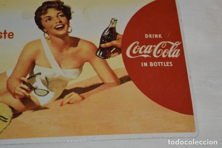 Coleccionismo de Coca-Cola y Pepsi: Chapa / placa - Publicidad de COCA-COLA / COCA COLA - METAL / hojalata litografiada - ¡Mira fotos! - Foto 5 - 192829600