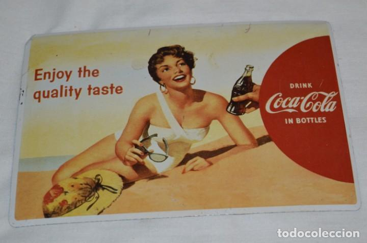 CHAPA / PLACA - PUBLICIDAD DE COCA-COLA / COCA COLA - METAL / HOJALATA LITOGRAFIADA - ¡MIRA FOTOS! (Coleccionismo - Botellas y Bebidas - Coca-Cola y Pepsi)