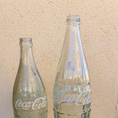 Coleccionismo de Coca-Cola y Pepsi: LOTE DE 2 BOTELLAS DE COCA COLA. Lote 192846110