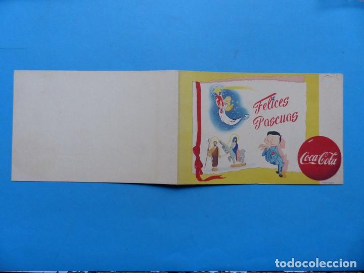 Coleccionismo de Coca-Cola y Pepsi: COCA-COLA - ANTIGUA FELICITACION NAVIDAD, COMPAÑIA LEVANTINA DE BEBIDAS GASEOSAS S.A. - AÑOS 1950-60 - Foto 2 - 192977830