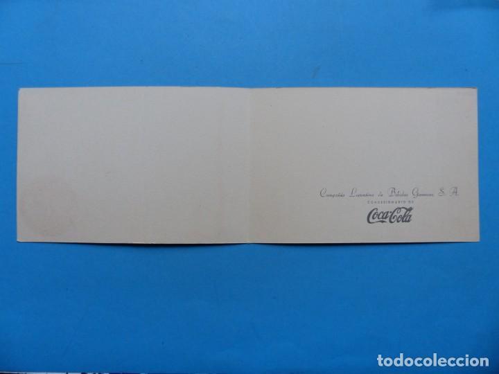 Coleccionismo de Coca-Cola y Pepsi: COCA-COLA - ANTIGUA FELICITACION NAVIDAD, COMPAÑIA LEVANTINA DE BEBIDAS GASEOSAS S.A. - AÑOS 1950-60 - Foto 3 - 192977830
