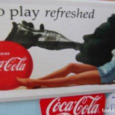 Coleccionismo de Coca-Cola y Pepsi: $ COCA-COLA $ LOTE : PLACA METALICA $ PINS EXPO 92 - OLIMPIADAS 92 $. Lote 193388386