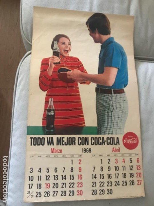 1969. CALENDARIO COCA-COLA DE PARED. MARZO-ABRIL. (Coleccionismo - Botellas y Bebidas - Coca-Cola y Pepsi)
