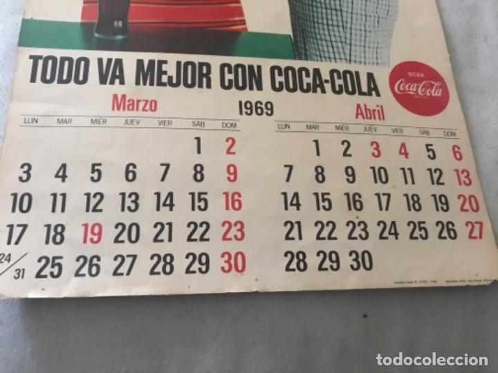 Coleccionismo de Coca-Cola y Pepsi: 1969. Calendario Coca-Cola de pared. Marzo-Abril. - Foto 2 - 193822950