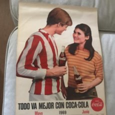 Coleccionismo de Coca-Cola y Pepsi: 1969. CALENDARIO COCA-COLA DE PARED. MAYO-JUNIO. Lote 193823131