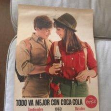 Coleccionismo de Coca-Cola y Pepsi: 1969. CALENDARIO COCA-COLA DE PARED. SEPTIEMBRE-OCTUBRE. Lote 193823383
