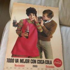 Coleccionismo de Coca-Cola y Pepsi: 1969. CALENDARIO COCA-COLA DE PARED. NOVIEMBRE-DICIEMBRE. Lote 193824227