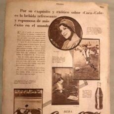Coleccionismo de Coca-Cola y Pepsi: COCA-COLA. ANTIGUO ANUNCIO ESPAÑOL AÑOS 20S. REVISTA ESTAMPA.. Lote 193837702