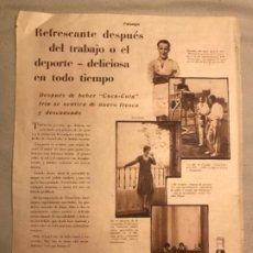 Coleccionismo de Coca-Cola y Pepsi: COCA-COLA. ANTIGUO ANUNCIO ESPAÑOL AÑOS 20S. REVISTA ESTAMPA.. Lote 193837828