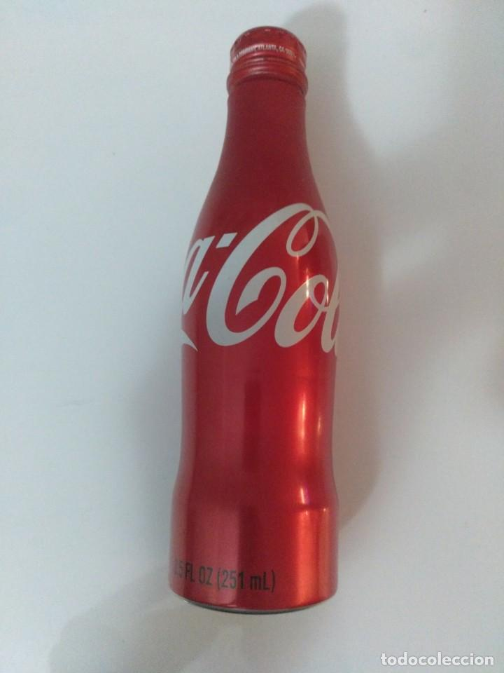 Coleccionismo de Coca-Cola y Pepsi: BOTELLA COCA COLA aluminio 8.5 OZ (E.E.U.U. 2008) - con tapón de rosca - SIN ABRIR - Foto 4 - 50254504