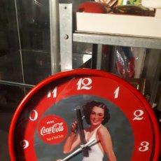 Coleccionismo de Coca-Cola y Pepsi: RELOJ CIRCULAR CON FOTO ESTILO VINTAGE PUBLICIDAD COCACOLA COCA COLA. Lote 194231826
