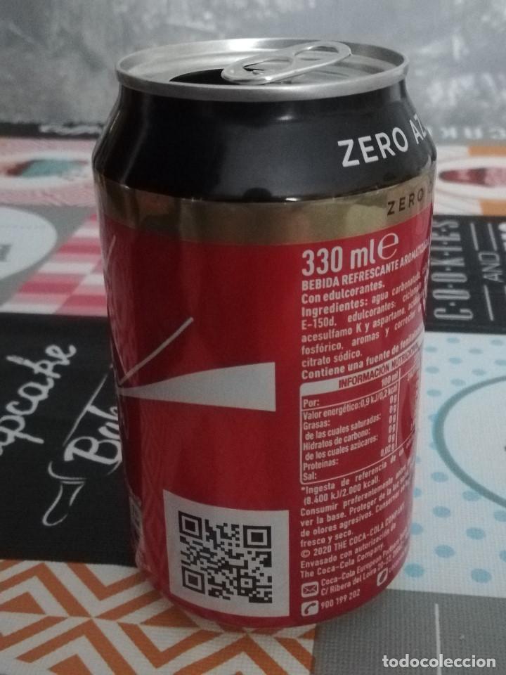 Coleccionismo de Coca-Cola y Pepsi: LATA VACÍA DE COCA-COLA ZERO CAFEÍNA - EDICIÓN ESPECIAL AÑO 2020: LA UNIÓN DE LAS PERSONAS - - Foto 2 - 194369627
