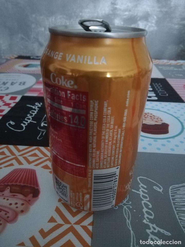 Coleccionismo de Coca-Cola y Pepsi: LATA VACÍA DE COCA-COLA ORANGE VANILLA (355 ML.) - Estados Unidos, 2018 - - Foto 3 - 194370251