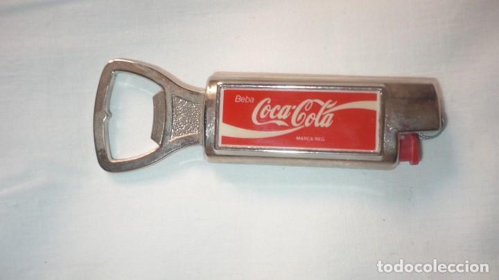 ABREBOTELLAS-MECHERO COCA COLA (Coleccionismo - Botellas y Bebidas - Coca-Cola y Pepsi)