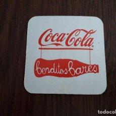Coleccionismo de Coca-Cola y Pepsi: POSAVASOS DE COCA COLA, BENDITOS BARES FONDO BLANCO. Lote 194531703