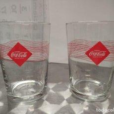 Coleccionismo de Coca-Cola y Pepsi: PACK 2 VASOS DE CRISTAL COCA COLA. Lote 194925962
