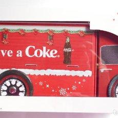 Coleccionismo de Coca-Cola y Pepsi: BONITO CAMIÓN CAJA NAVIDAD **COCA COLA**LATA. SE ACOMPAÑA DE SU CAJA ORIGINAL. Lote 194938827