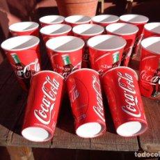 Coleccionismo de Coca-Cola y Pepsi: 16 VASOS DE COCA COLA, PAPEL AÑO 1996 ESPAÑA, NO USADO. Lote 195001250