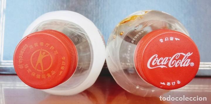 Coleccionismo de Coca-Cola y Pepsi: 2 BOTELLAS PLÁSTICO VACÍAS EDICIÓN LIMITADA JAPÓN COCA COLA CLEAR (TRANSPARENTE) Y PLUS (CON FIBRA) - Foto 2 - 195236808