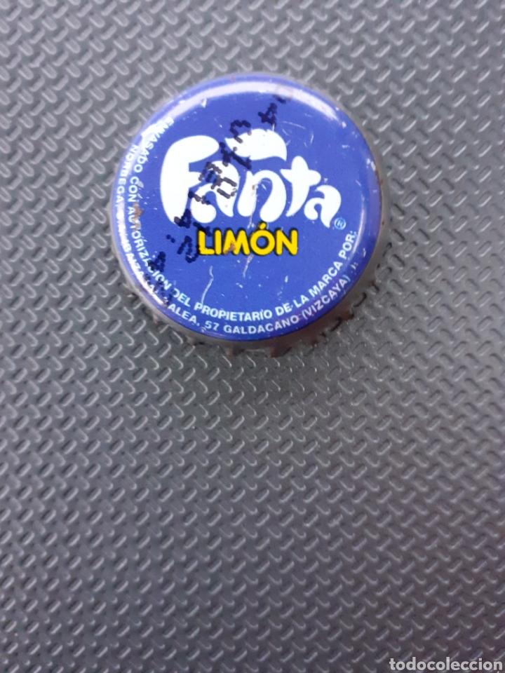 CHAPA CORONA FANTA LIMÓN VIZCAYA. FABRICANTE Z. (Coleccionismo - Botellas y Bebidas - Coca-Cola y Pepsi)