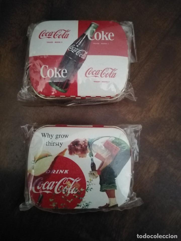 PAREJA DE CAJITAS PASTILLEROS DE COCA COLA. SIN USO. (Coleccionismo - Botellas y Bebidas - Coca-Cola y Pepsi)