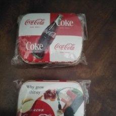 Coleccionismo de Coca-Cola y Pepsi: PAREJA DE CAJITAS PASTILLEROS DE COCA COLA. SIN USO.. Lote 195370022