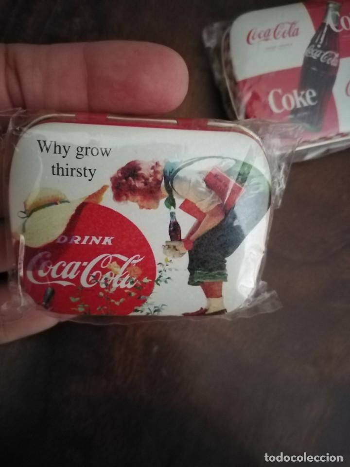 Coleccionismo de Coca-Cola y Pepsi: Pareja de Cajitas Pastilleros de Coca Cola. Sin uso. - Foto 2 - 195370022