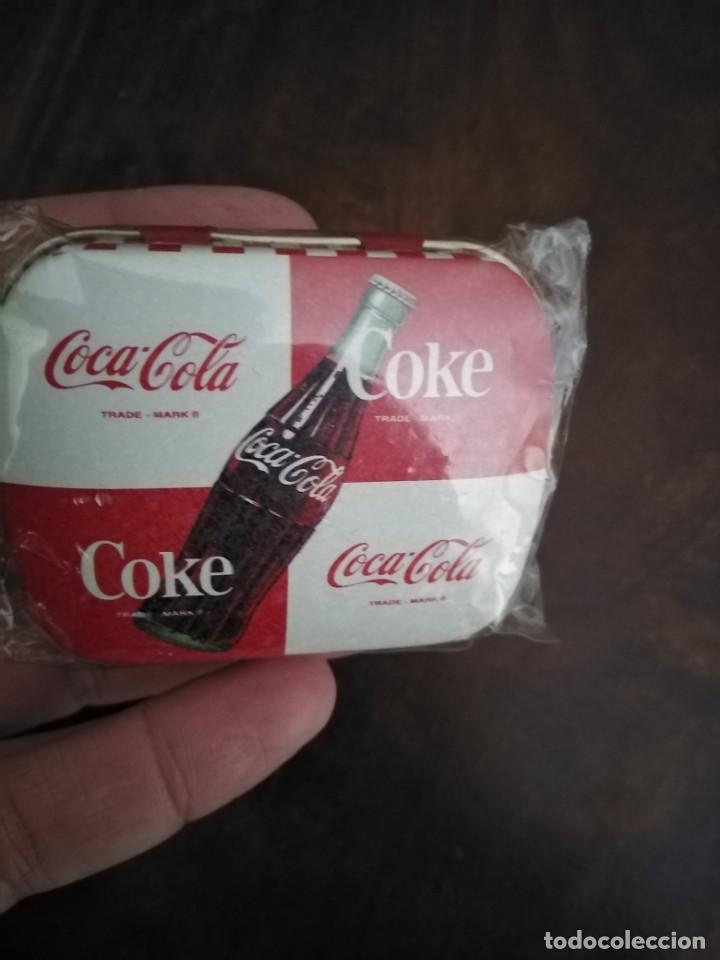 Coleccionismo de Coca-Cola y Pepsi: Pareja de Cajitas Pastilleros de Coca Cola. Sin uso. - Foto 3 - 195370022