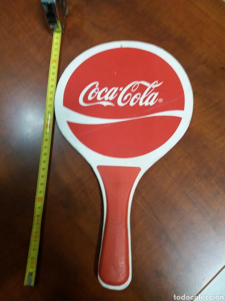 COCA-COLA .RAQUETA DE PUBLICIDAD. (Coleccionismo - Botellas y Bebidas - Coca-Cola y Pepsi)