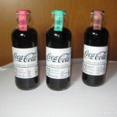 Coleccionismo de Coca-Cola y Pepsi: TRES BOTELLAS COCA-COLA **SIGNATURE MIXERS** 01 SMOKY - 03 HERBAL - 02 SPICY. Lote 195446615
