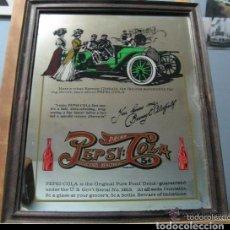 Coleccionismo de Coca-Cola y Pepsi: ANTIGUO ESPEJO SERIGRAFIADO DE PEPSI-COLA. Lote 195448702