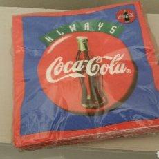 Coleccionismo de Coca-Cola y Pepsi: PAQUETE SIN ABRIR CON 20 SERVILLETAS DE COCA COLA. ALWAYS. 33 X 33 CM. AÑOS 90.. Lote 195651336