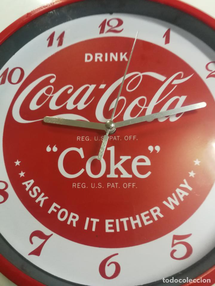 Coleccionismo de Coca-Cola y Pepsi: RELOJ DE PARED COCA COLA COKE FUNCIONANDO. - Foto 2 - 195779363