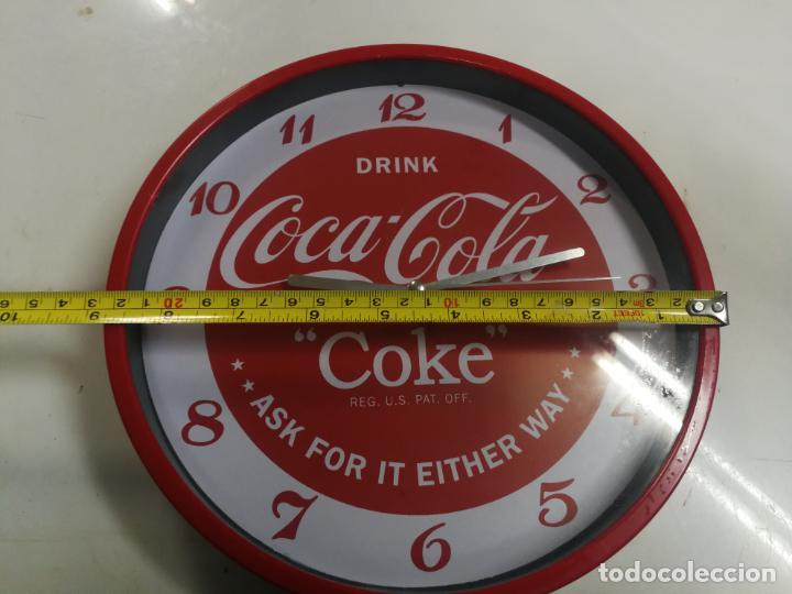 Coleccionismo de Coca-Cola y Pepsi: RELOJ DE PARED COCA COLA COKE FUNCIONANDO. - Foto 4 - 195779363