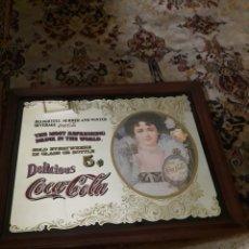 Coleccionismo de Coca-Cola y Pepsi: ANTIGUO GRAN CUADRO ESPEJO DE COCA-COLA. Lote 196353905
