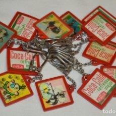 Coleccionismo de Coca-Cola y Pepsi: LOTE / 12 ANTIGUOS LLAVEROS HOLOGRÁFICOS VISTANIMADA - EN SU DORSO, PUBLICIDAD COCA-COLA - AÑOS 60. Lote 196543663